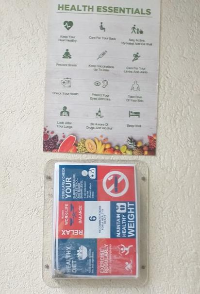 Promotional brochures placed throughout the plant