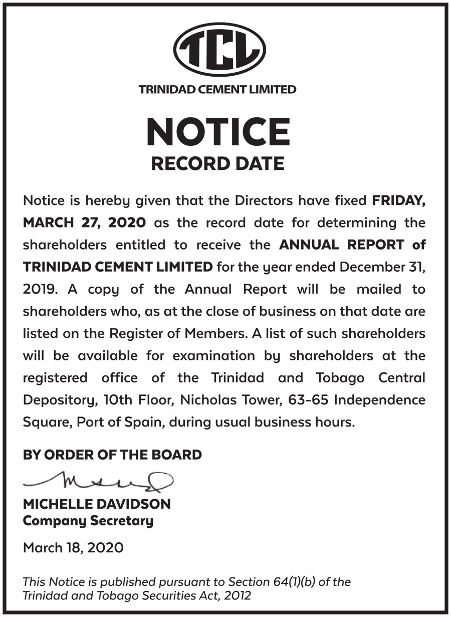 NOTICE-AD-15X3-NOTICE-RECORD-DATE-FAW